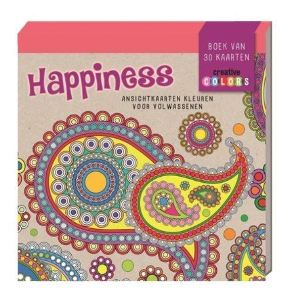 De Lantaarn – Ansichtkaarten kleurblok – Happiness