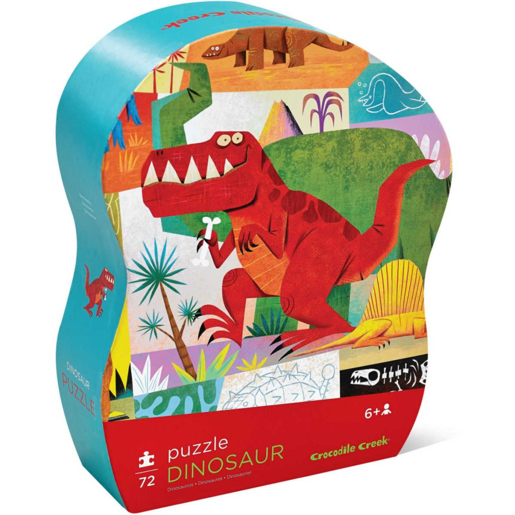 Crocodile Creek puzzel dinosaurus 72 pcs