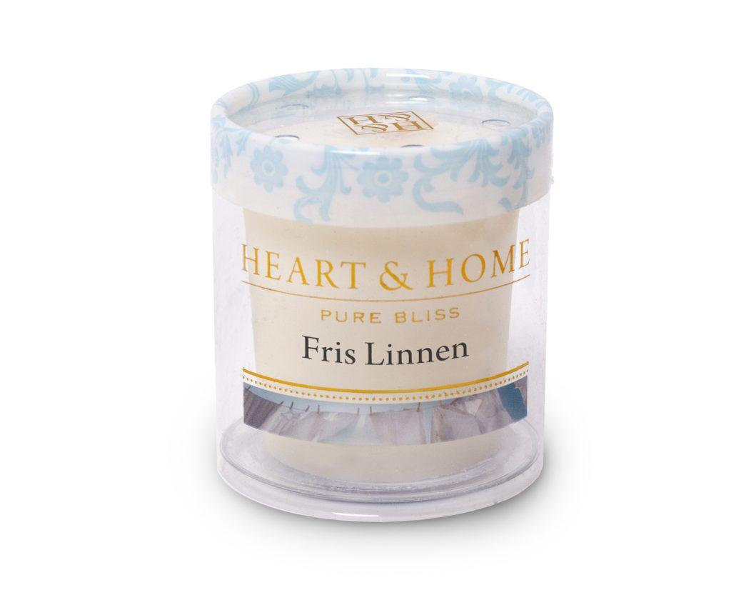 Heart & Home – Votive kaars – Fris linnen