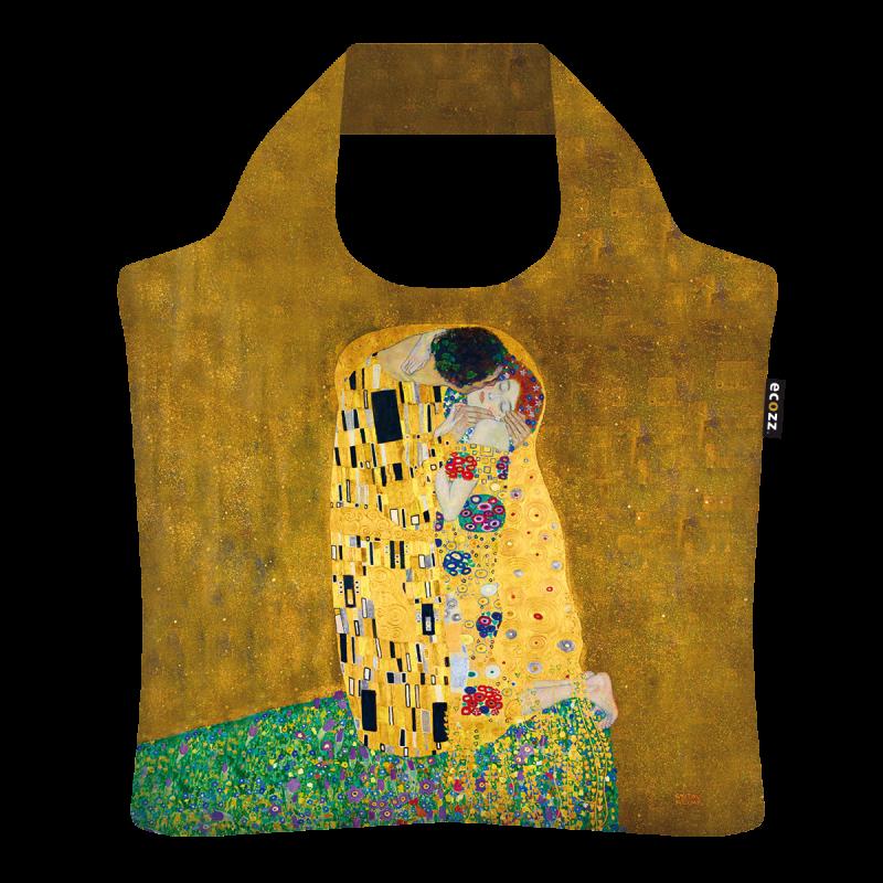 Ecozz – Opvouwbare ecoshopper – gold edition – De Kus – Gustav Klimt