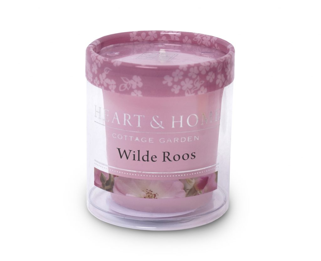 Heart & Home – Votive kaars – Wilde roos