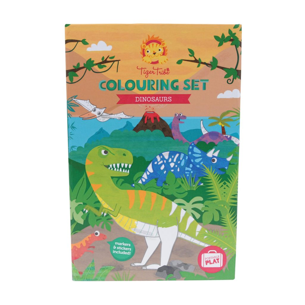 Tiger Tribe – coloring set – dinosaurs