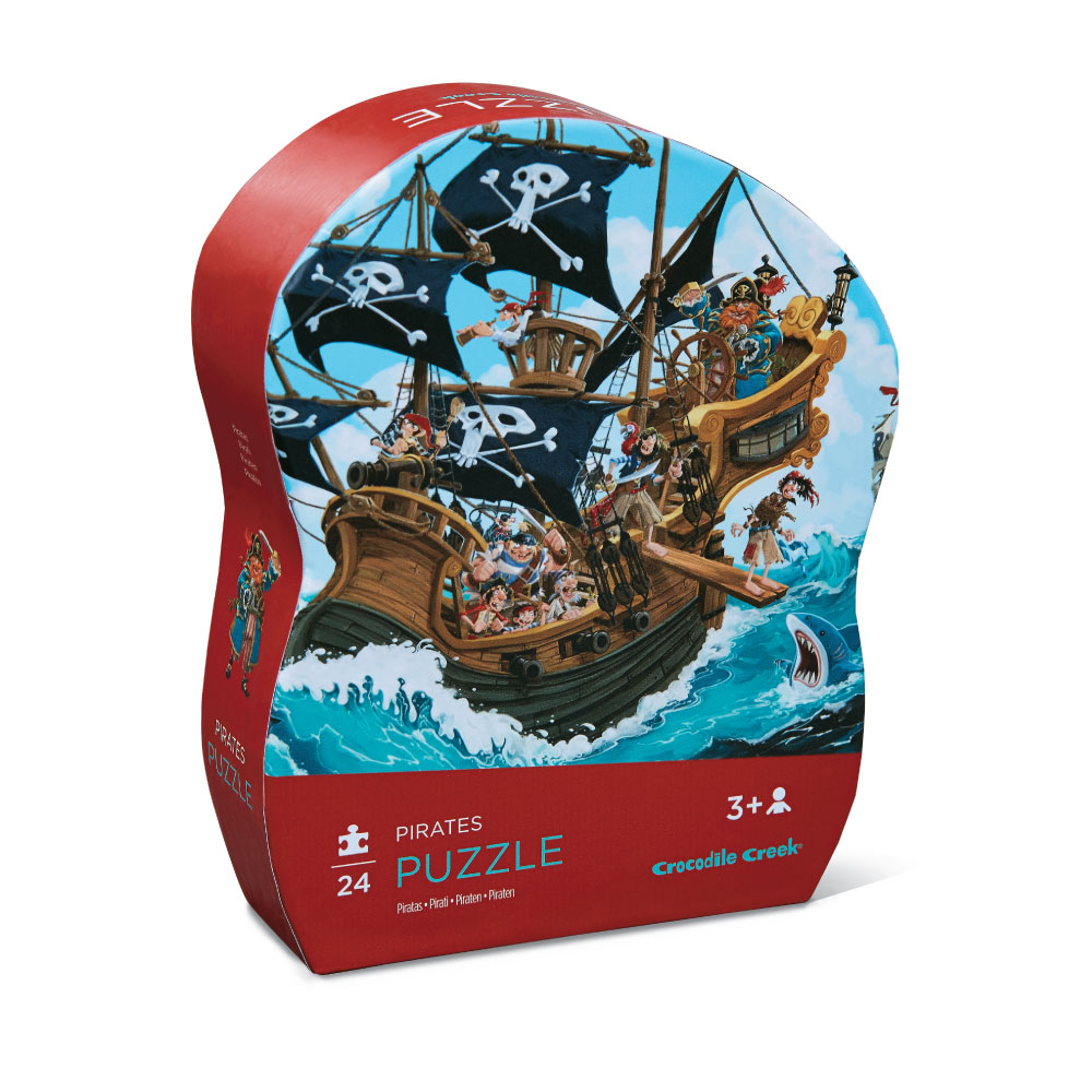 Crocodile Creek puzzel piraten 24 pcs