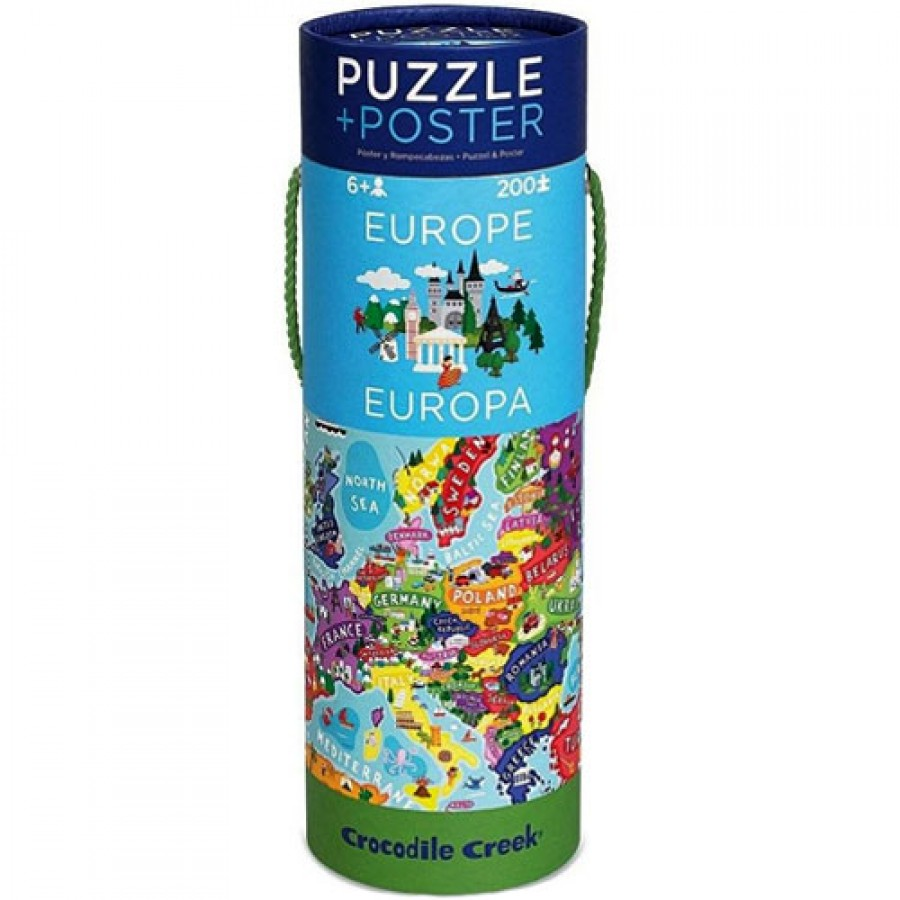 Crocodile Creek – puzzel – Europa 200 pcs