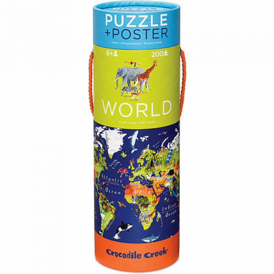 Crocodile Creek – puzzel – wereld 200 pcs