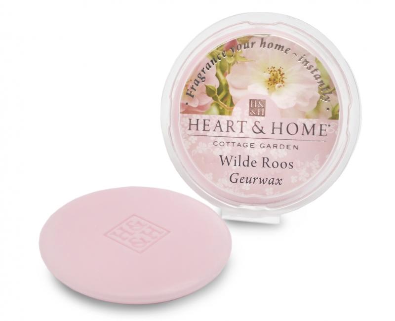 Heart & Home – Geurwax – Wilde Roos