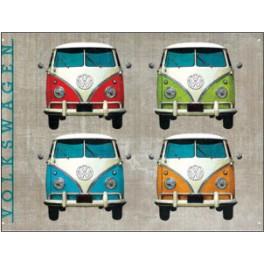 Metalen wandbord – VW T1 bus – voorkant