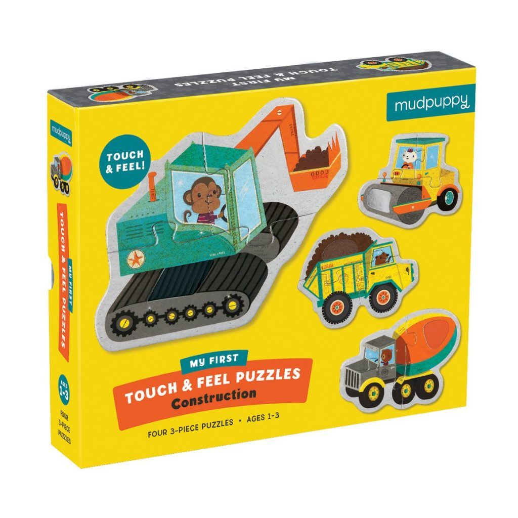 Mudpuppy touch & feel puzzel construction