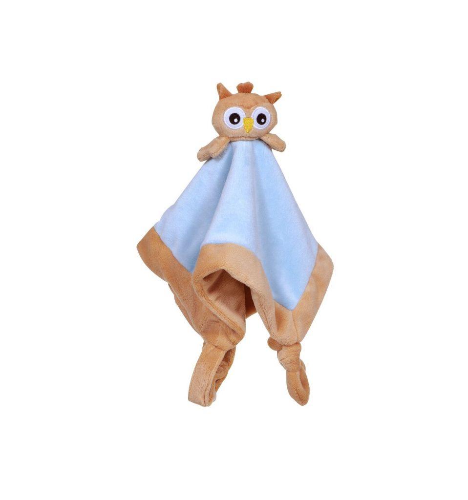 My teddy – tutteldoek uil – blauw