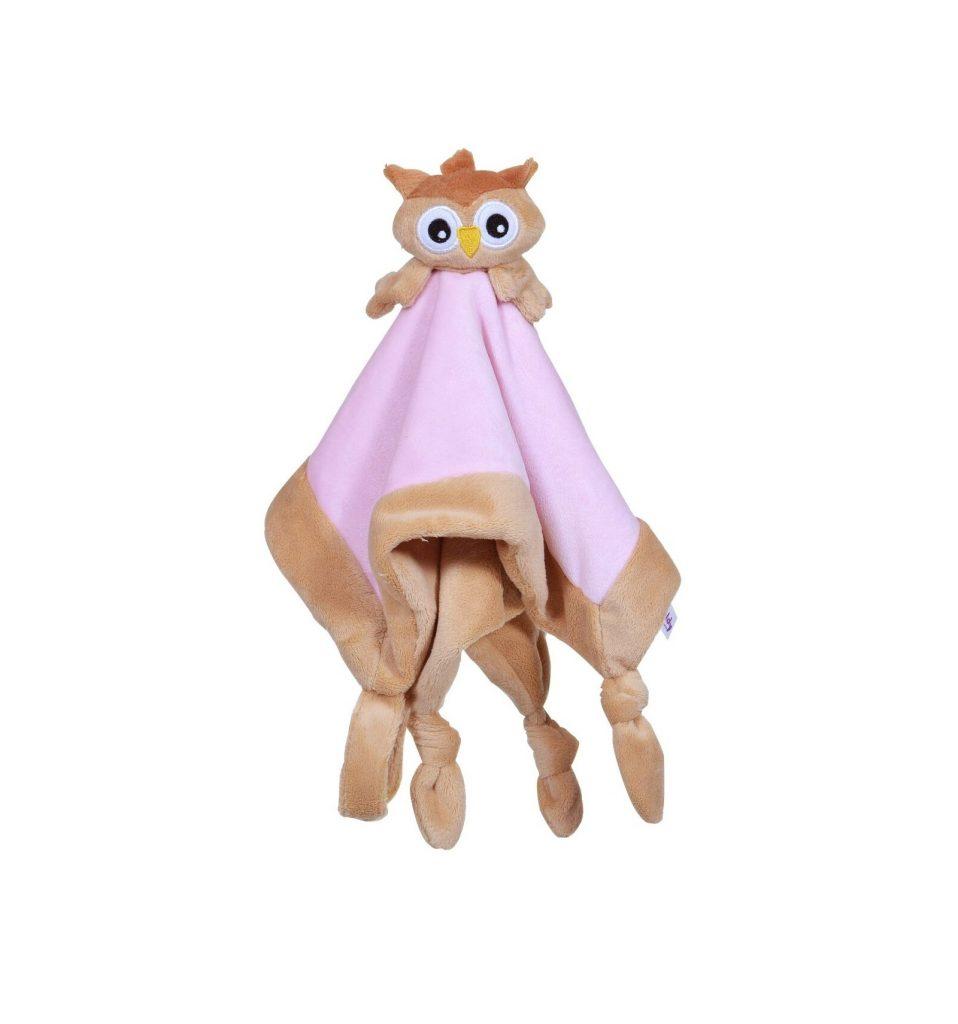 My teddy – tutteldoek uil – roze