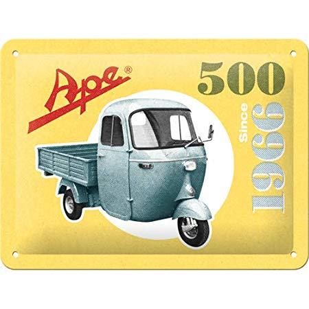 Nostalgic Art – metalen wandbord – Piaggio Ape 500