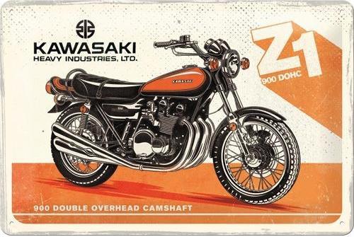 Nostalgic Art – metalen wandbord – Kawasaki Z1