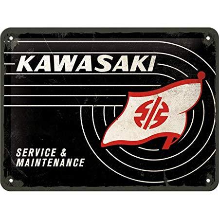 Nostalgic Art – metalen wandbord – Kawasaki tank logo