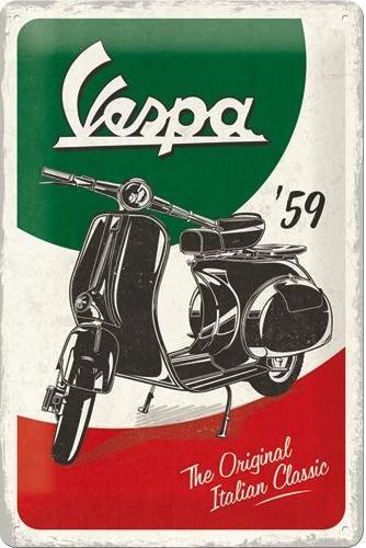 Nostalgic Art – metalen wandbord – Vespa italian classic