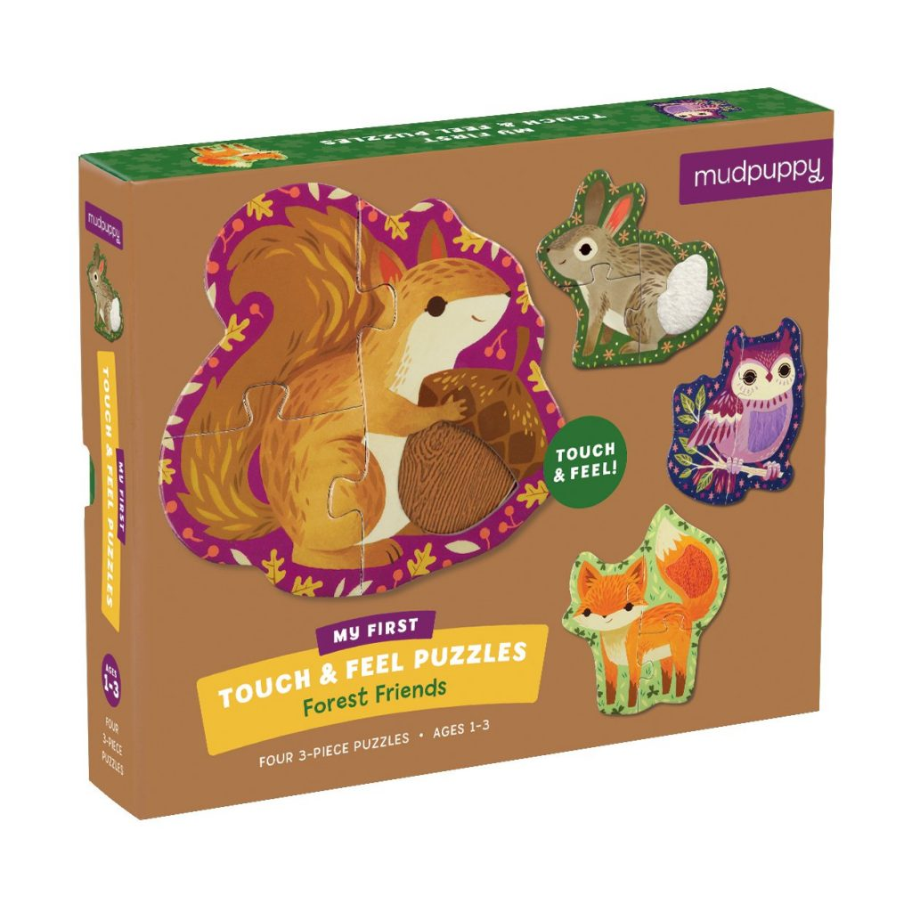 Mudpuppy touch & feel puzzel forest friends