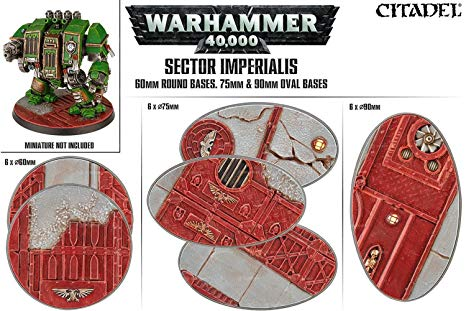 Warhammer 40,000 – sector imperialis  – round en oval bases