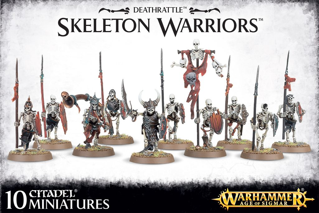 Warhammer age of sigmar – skeleton warriors – deathrattle
