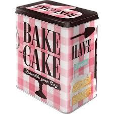 nostalgic art voorraadblik bake a cake achterkant