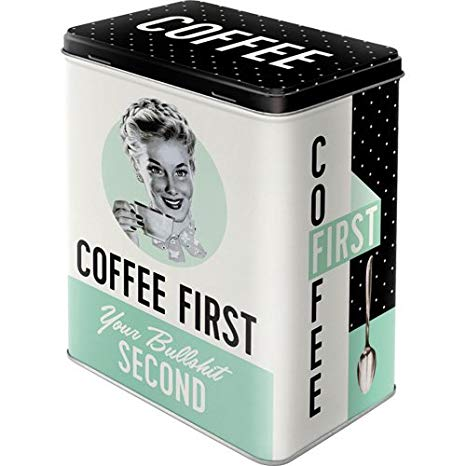 Nostalgic Art – voorraadblik coffee first